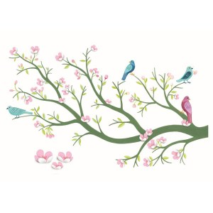 05001-Cherry-tree-in-bloom-3D-wall-sticker-1