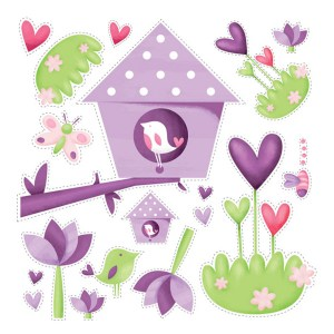 5250004 stickers secret garden
