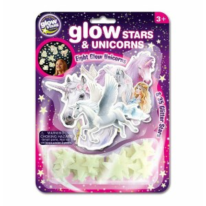 BRAINSTORM GLOW STARS AND UNICORNS B86278