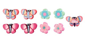 Hair-Clips-mini-butterfly-flower,-Tita,-multi-col-(4pairpercard,-6-cards)-104108