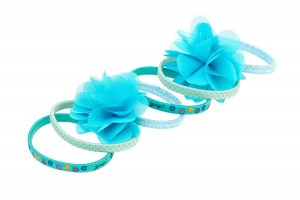 Hair-Elastic-Pammy,-blue-emerald-(6pcspercard,-6-cards)-103465