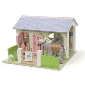 LE TOY VAN BLUEBELL STABLES WITH PONY ME073