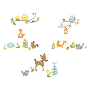 ROOMMATES-Woodland-Fox-&-Friends-Peel-and-Stick-Wall-Decals-RMK2768SCS-1