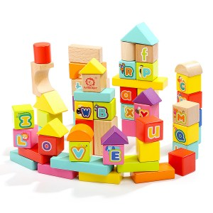 TOP BRIGHT 120345 WOODEN ABC BLOCKS 1